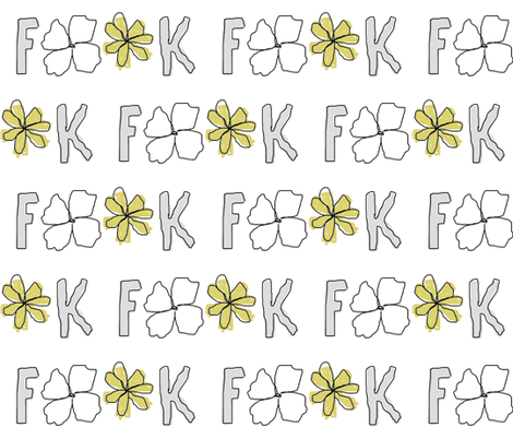 F * * K fabric by wobbly on Spoonflower - custom fabric