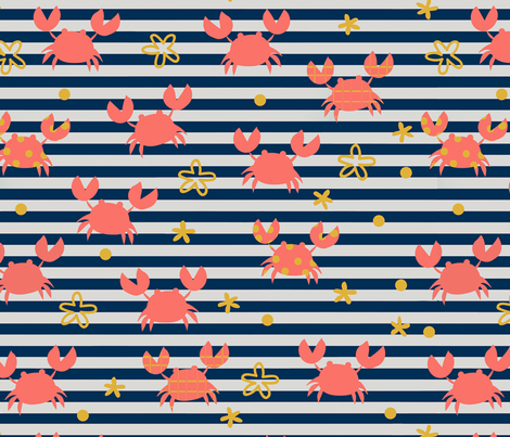 Crabby Colors fabric by saint_shores on Spoonflower - custom fabric