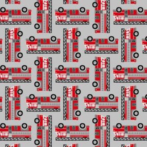 firetrucks - light grey, small