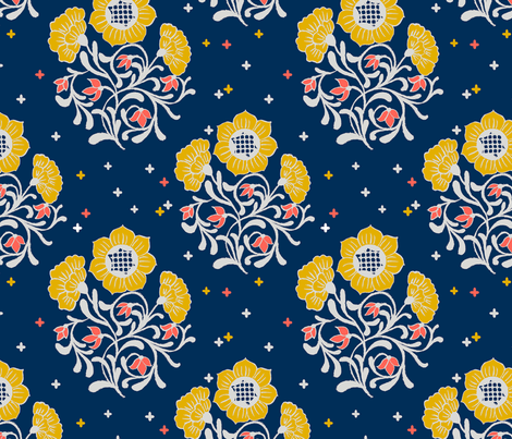Floral Fantasy  fabric by theboutiquestudio on Spoonflower - custom fabric