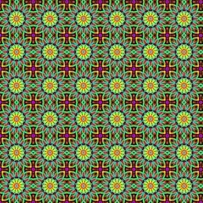 Green mandala and Cuddy Cross