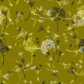 Windy Mustard Green Dandelions.