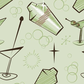 Green atomic cocktail shaker mixer