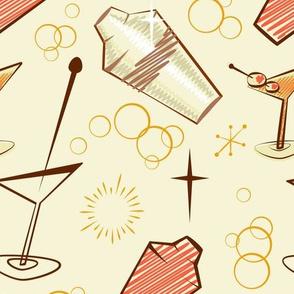 Orange and cream atomic cocktail shaker mixer