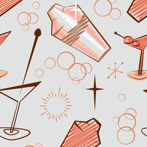 Pink and grey atomic cocktail shaker mixer