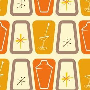 Orange starbursts and shakers
