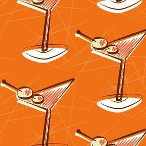 Orange mid-century martinis