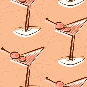 Pink mid-century martinis