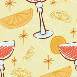 Red and orange cocktails