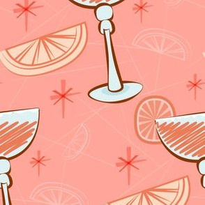Pink cocktails