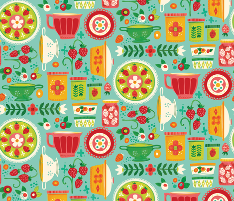 KITCHY KITCHEN fabric by kcavallo on Spoonflower - custom fabric