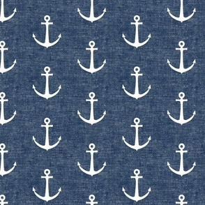 anchors on dark blue - nautical - LAD19