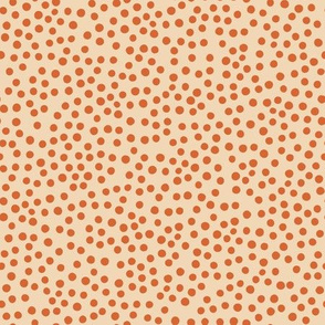 Just Polka Dots (cream and red)