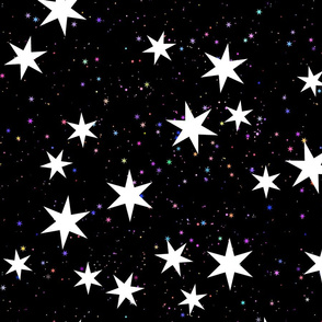 big starry skies - black