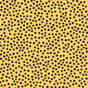 Just Polka Dots (yellow and navy)