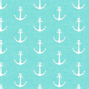 anchors on teal - nautical - LAD19