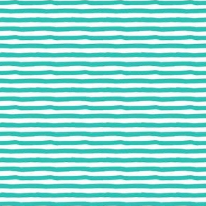 "4"" Aqua and White Stripes"