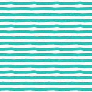"8"" Aqua and White Stripes"