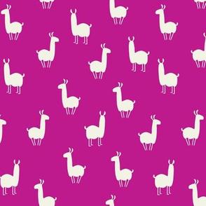 Llamas small dark pink