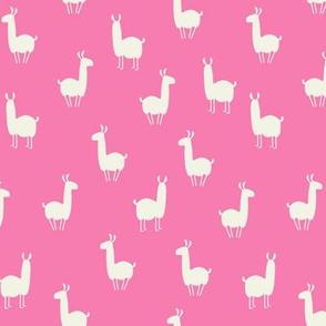 Llamas small pink