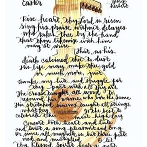 George Herbert  Easter poem with Lute