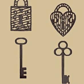 Unlock / Old Keys & Padlocks / Antique Large