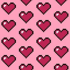 Pink Pixel Heart