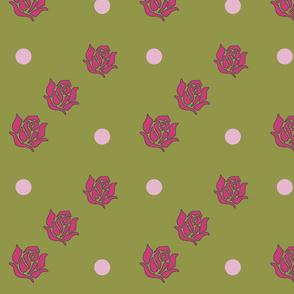 Ballerina Roses and Polka Dots