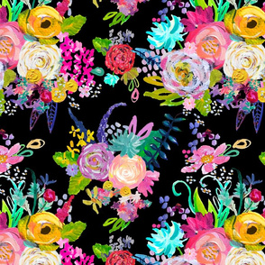 Rainbow Painted Garden // Black