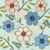 Peach-_-Blue-Floral-4000
