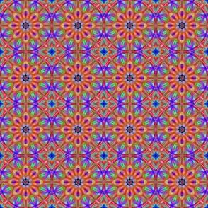 Colored glass mandala