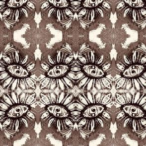 Black and White sunflower eye design