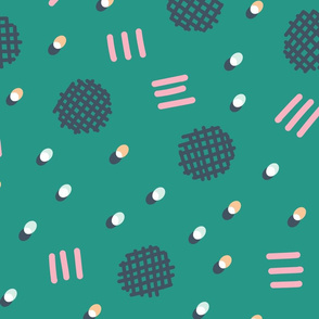 Waffle Confetti - green
