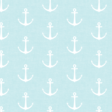 anchors on baby blue - nautical - LAD19 fabric by littlearrowdesign on Spoonflower - custom fabric