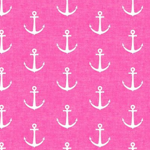 anchors on pink - nautical - LAD19