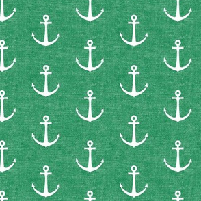 anchors on green - nautical - LAD19