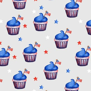 Flag Cupcakes with Stars // Iron