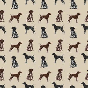 SMALL - german shorthaired pointer dogs fabric - gsp fabric, gsp dog, cute dog, black and white gsp, liver gsp, dog fabric