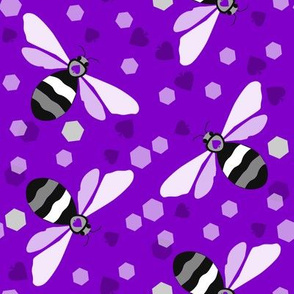 Lg. Ace Bees on Vivid Purple