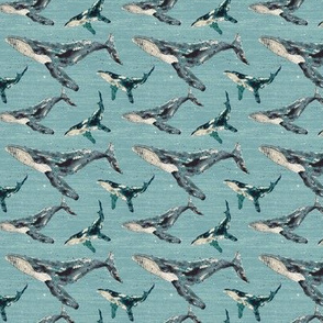 Blue Whale Linen - Small