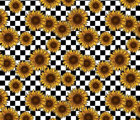 066232975406 90s sunflowers fabric - checkerboard fabric, sunflower fabric, 90s ...