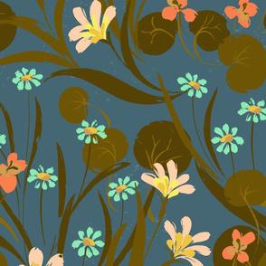 Nasturtium Garden Blue