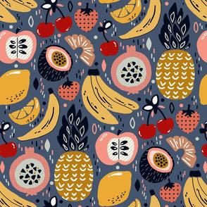 Winter Funky Fruit (Large version)