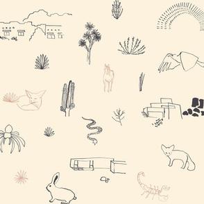 desert life outline