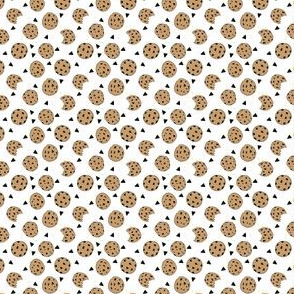 MINI cookies // food chocolate chip biscuits kids triangle novelty small print