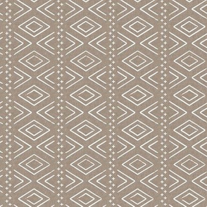 (small scale) Safari Wholecloth Diamonds on brown - farmhouse diamonds - mud cloth fabric (90) C19BS