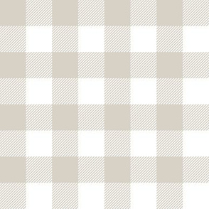 "1"" buffalo plaid - beige C19BS"