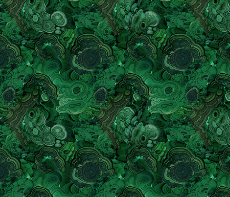 Malachite2 - Jewel fabric by ravynka on Spoonflower - custom fabric