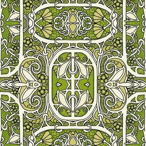 Seventies Green with Victorian Theme