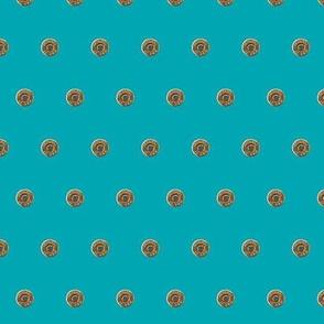 bullet polkadot - turquoise